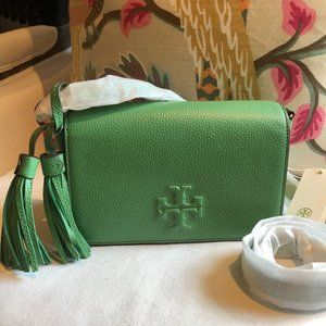 🌷 NEW Tory Burch Green THEA Mini Crossbody Bag